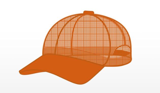Hi-Viz Orange Mesh Detasseling Cap