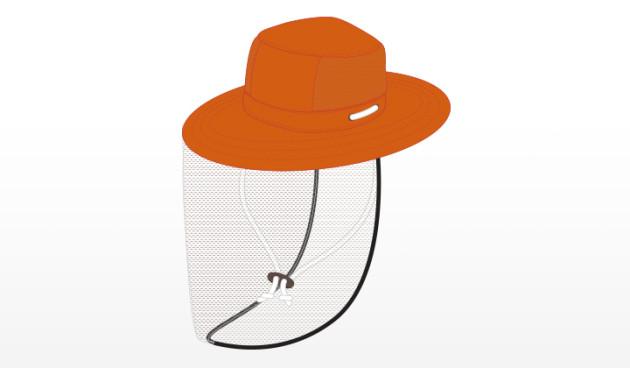 Hi-Viz Orange Micro Fiber Detasseling Boonie with BetterVue® Mesh
