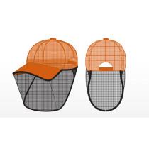 hi-viz orange mesh detasseling cap with bettervue mesh1